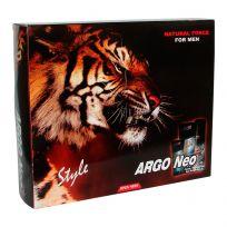 Набор ARGO Neo тигр STYLE (пена для бритья, гель после бритья, душ гель)