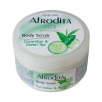 Afrodita SPA скраб для тела Огурец и Зеленый чай, 350 мл