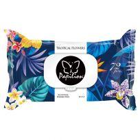 Papilion Влажные салфетки, 72 шт, Tropical Flowers (standart, с крышкой)