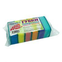 Afrodita Губки для посуды 5+1 шт (90x65x30), 60 шт. в упаковке