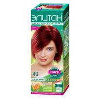 Элитан Крем-краска для волос №43 красный коралл