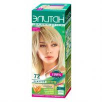Элитан Крем-краска для волос №72 бежевый блонд