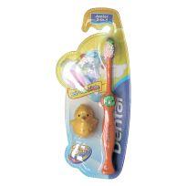 Детская зубная щетка Dental Soft Care Kids 3+, колпачок-игрушка