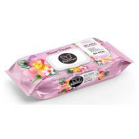 Papilion Влажные салфетки, 64 шт, Flower Passion PINK (premium, с крышкой)